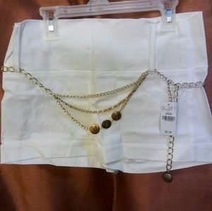 Sale! BOGO 50% OFF! New Shorts w Gold Chain Belt